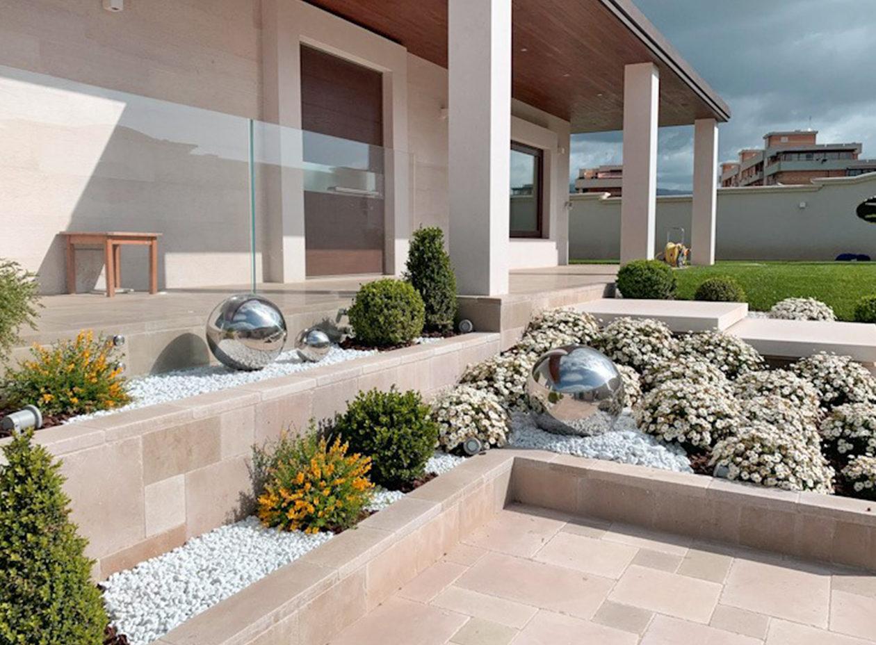 giardino realizzato da vivai ricciotti
